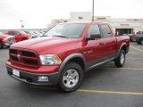 2010 Inferno Red Crystal Pearl Dodge Ram 1500 TRX4 Crew Cab 4x4 #41534299
