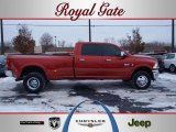2010 Inferno Red Crystal Pearl Dodge Ram 3500 Laramie Crew Cab 4x4 Dually #41533737