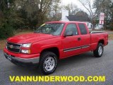 2006 Victory Red Chevrolet Silverado 1500 LT Extended Cab 4x4 #41533762