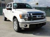 2011 White Platinum Metallic Tri-Coat Ford F150 Lariat SuperCrew #41534155