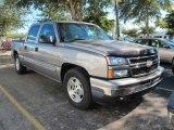 2006 Graystone Metallic Chevrolet Silverado 1500 LS Crew Cab #41631362