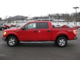 2010 Vermillion Red Ford F150 XLT SuperCrew 4x4 #41631419