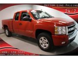 2007 Victory Red Chevrolet Silverado 1500 LT Extended Cab #41631442