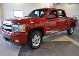 2008 Victory Red Chevrolet Silverado 1500 LTZ Crew Cab 4x4 #41631702