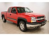 2004 Victory Red Chevrolet Silverado 1500 Z71 Extended Cab 4x4 #41701074