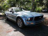 2005 Windveil Blue Metallic Ford Mustang V6 Deluxe Coupe #41700688