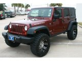 2007 Jeep Wrangler Unlimited Red Rock Crystal Pearl