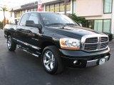 2006 Brilliant Black Crystal Pearl Dodge Ram 1500 Laramie Quad Cab #41734431