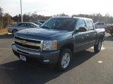 2011 Blue Granite Metallic Chevrolet Silverado 1500 LT Crew Cab 4x4 #41743543