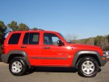 2002 Flame Red Jeep Liberty Sport 4x4 #41743128