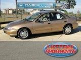 1998 Gold Metallic Chevrolet Cavalier LS Sedan #41743583