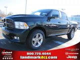 2011 Hunter Green Pearl Dodge Ram 1500 Sport Crew Cab #41743205