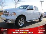 2011 Bright White Dodge Ram 1500 Laramie Crew Cab 4x4 #41743206