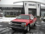 2001 Victory Red Chevrolet Silverado 1500 LS Extended Cab 4x4 #41743249