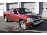 2008 Victory Red Chevrolet Silverado 1500 LT Extended Cab 4x4 #41743789