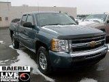 2010 Blue Granite Metallic Chevrolet Silverado 1500 LS Extended Cab 4x4 #41790622