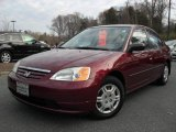 2002 Radiant Ruby Red Pearl Honda Civic LX Sedan #41791418