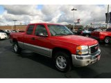 2005 Fire Red GMC Sierra 1500 Z71 Extended Cab 4x4 #41790979