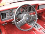 1986 Ford Mustang GT Convertible Red Interior