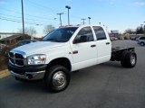 2008 Bright White Dodge Ram 3500 ST Quad Cab 4x4 Chassis #41866340
