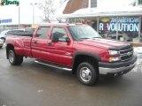 2006 Sport Red Metallic Chevrolet Silverado 3500 LT Crew Cab 4x4 Dually #41865863