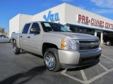 2008 Silver Birch Metallic Chevrolet Silverado 1500 LS Crew Cab #41866137