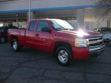 2010 Victory Red Chevrolet Silverado 1500 LT Extended Cab 4x4 #41934615