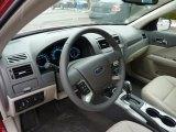 2011 Ford Fusion SEL V6 AWD Medium Light Stone Interior