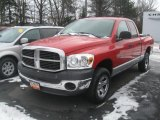 2007 Flame Red Dodge Ram 1500 SLT Quad Cab 4x4 #41935101
