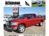 2007 Inferno Red Crystal Pearl Dodge Ram 1500 Lone Star Edition Quad Cab #42034016