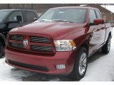 2011 Deep Cherry Red Crystal Pearl Dodge Ram 1500 Sport Quad Cab 4x4 #42063543