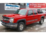 2004 Victory Red Chevrolet Silverado 1500 Z71 Extended Cab 4x4 #42063366