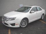 2010 White Platinum Tri-coat Metallic Ford Fusion SEL V6 #42063205