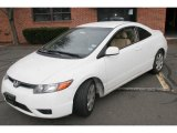 2007 Taffeta White Honda Civic LX Coupe #42063272