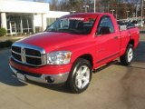 2007 Flame Red Dodge Ram 1500 SLT Regular Cab #42063482