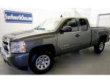2011 Steel Green Metallic Chevrolet Silverado 1500 LS Extended Cab 4x4 #42099745