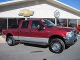 2003 Toreador Red Metallic Ford F250 Super Duty XLT Crew Cab 4x4 #42099755