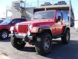 2006 Flame Red Jeep Wrangler Rubicon 4x4 #42099766