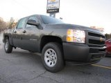 2011 Steel Green Metallic Chevrolet Silverado 1500 Crew Cab 4x4 #42099590