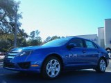2011 Blue Flame Metallic Ford Fusion SE #42099444