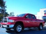 2004 Flame Red Dodge Ram 1500 SLT Quad Cab 4x4 #42099451