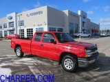 2005 Victory Red Chevrolet Silverado 1500 LS Extended Cab 4x4 #42099281
