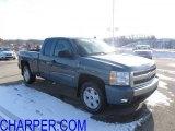 2007 Blue Granite Metallic Chevrolet Silverado 1500 LT Z71 Extended Cab 4x4 #42099282