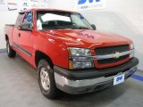 2004 Victory Red Chevrolet Silverado 1500 LT Extended Cab 4x4 #42099726