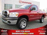 2007 Inferno Red Crystal Pearl Dodge Ram 1500 SLT Regular Cab 4x4 #42133980