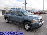 2009 Blue Granite Metallic Chevrolet Silverado 1500 LT Crew Cab 4x4 #42099907