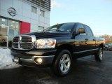 2008 Brilliant Black Crystal Pearl Dodge Ram 1500 ST Quad Cab 4x4 #42134065
