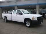 2008 Summit White Chevrolet Silverado 1500 Work Truck Extended Cab #42133925