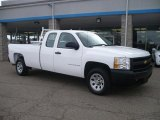 2008 Summit White Chevrolet Silverado 1500 Work Truck Extended Cab #42188017
