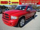 2005 Flame Red Dodge Ram 1500 SLT Quad Cab #42188462